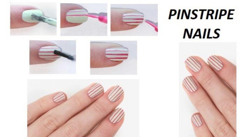 pinstripe nail art